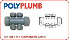 POLYPLUMB DOUBLE SIDED MANIFOLD PUSH FIT 22mm x 10 SOCKET or SPIGOT, 2 or 4 PORT