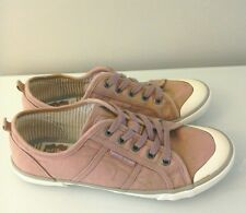 Ladies Pumps Shoes Trainers White Stuff Size 6/ 39 Pink Canvas Hardly Worn Wide
