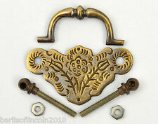 """Solid Brass Plate Handle/Cabinet/Drawer/Knob/Armac/Pressed/21/2""""/*PICK QUANTITY*"""