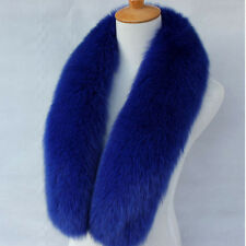 Real Fox Fur Scarf Collar Soft Fur Scarves Neck Warmer Stole Shawl Wrap Ring #62