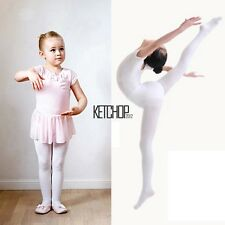 New Children Girls High Elastic Stockings Dance Footed Tights Pantyhose KECP