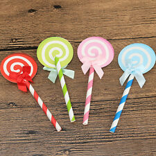 6X Lollipop Cake Cupcake Topper Shower Party Picks Birthday Cake Decor 12.5cm LK