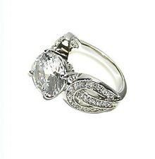 5CTW ROUND SOLITAIRE PAVE ACCENTS CZ RING-BRIDAL