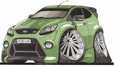 Ford Focus RS Printed Koolart Cartoon T Shirt 2548 More Colors Available