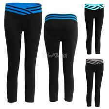 Womens Yoga Leggings Pants Sport Athletic Gym Running Workout Fitness Activewear