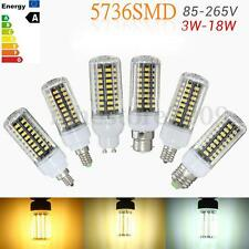 3/5/7/9/12/15/18W E27/E14/E12/E17 5736 LED SMD Corn Light Bulb Lamp AC 85-265V