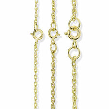 9CT SOLID GOLD 16 18 20 22 24 28 BELCHER ROLO PRINCE OF WALES POW CHAIN NECKLACE