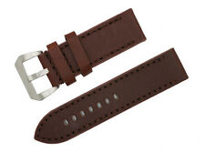 New Cow Leather  Brown Watch Band Strap  Fit  (for) Panerai  22mm~26mm