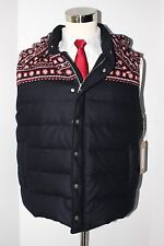 NWT Thom Browne Brooks Brothers Black Fleece Wool Cashmere Hooded Vest Navy Blue