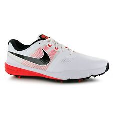 Mens Nike Lunar Command Spiked Golf Shoes Bright Crimson/White