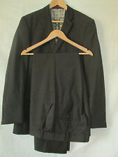 "mens LIMEHAUS BROWN PINSTRIPE WOOLMARK SUIT 38""L CHEST - 36"" WAIST - 33"" LEG"