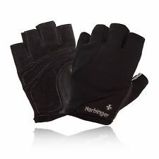 Harbinger Power Womens StretchBack Black Fingerless Weightlifting Fitness Gloves