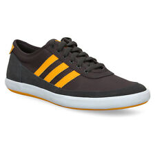 Mens Adidas Court Spin Dark Grey Smart Casual Canvas Classic Shoes Trainers 6-12