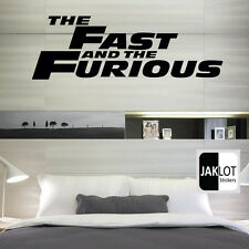 FAST AND FURIOUS - Vinyl Wall Art Sticker, Decal, Bedroom, Film logo