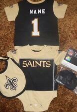 New Orleans Saints NFL Infant Jersey Bib & Bootie Set add any name  number