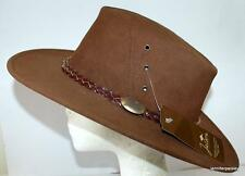 JACARU NEW KOOKABURRA Cow Hide Suede Leather Brown Unisex Aussie