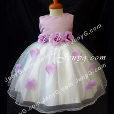 #TFP7 Baby Girl Christening Pageant Holy Communion Formal Party Prom Gown Dress