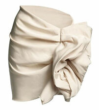 NWT LANVIN FOR H&M HM WHITE BEIGE CREAM RUFFLE MINI SKIRT 34 36 4 6 8 10 RARE!