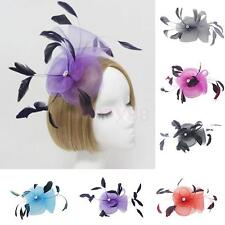Feather Wedding Bridal Ladies Fancy Dress Fascinator on Clip Hair Accessories