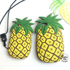 3D Pineapple Lovely Cute Soft Silicone Back Cover Case For iPhone 6 6s 6s Plus