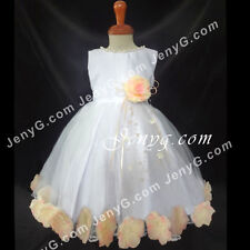 #MFPE7 Baby Girls Christening Communion Birthday Pageant Party Formal Gown Dress