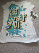 House of Dereon by Beyonce Women's White Graphic T-Shirt NWT