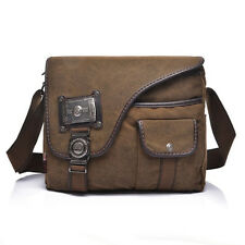 Men's Canvas Travel Hiking Messenger Shoulder Bag Vintage Briefcase Laptop Bags