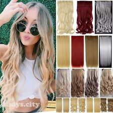 Real Thick Long Straight Curly 3/4 Full Head Clip In Hair Extensions 5clip Piece