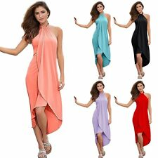 New Lady Women's Boho Long Maxi Dress Party Cocktail Retro Sleeveless Dresses