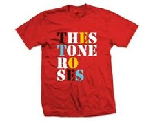Official T Shirt THE STONE ROSES- FONT LOGO Sizes S XXL Red Mens Licensed Merch