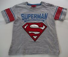 BOYS SHORT SLEEVE DC COMICS SUPERMAN SHIRT TSHIRT with REMOVABLE CAPE