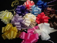 ONE PULLBOW with 6m OF RIBBON 17 COLOURS WEDDING CAR DECORATIONS