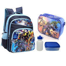"New 16"" Large Transformers Back to School Backpack Boys Kids Rucksack Lunch Bag"