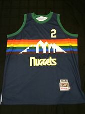 Alex English Denver Nuggets #2 Mitchell & Ness Jersey Sz 56 1983-84 NBA HOF