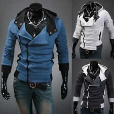 Men Assassins Creed 3 Desmond Miles Costume Hoodie Cosplay Coat Jacket Outerwear