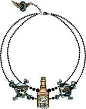 Too Fast Brand Gin Rummy Tiered Necklace 1920s Steampunk Goth Emo Pinup Flapper