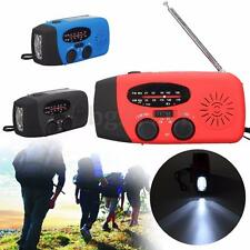Solar Hand Crank AM/FM Radio LED Flashlight Emergency Phone Charger Power Bank