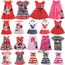 Lovely Baby Kids Girls Mickey Minnie Pattern Skirt Sundress Summer Party Dresses