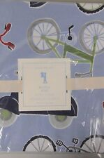 NEW Pottery Barn Kids BOY BICYCLE VELO Bike Blue Red TWIN full Queen Duvet