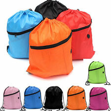 Premium School Drawstring Duffle Bag Sport Gym Swim Dance Shoe Backpack CA