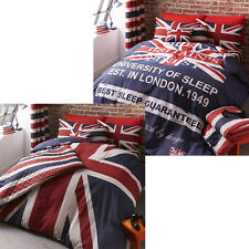 Catherine Lansfield Home Britain's Finest Union Jack Reversible Duvet Cover Set