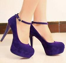 Girls Chic High Heels Platform Womens Ankle Strappy Pumps Dress Party Shoes new