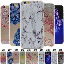 For Apple Color Pattern Silicone Case Rubber Soft TPU Gel Shell Protective Cover