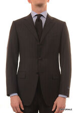 CANALI Italy Gray Striped Super 120's Wool Business Suit Slim Fit NEW