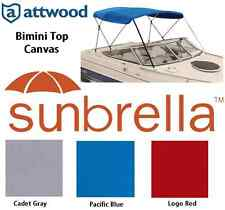 Attwood Bimini Top Replacement Canvas Sunbrella for 3 Bow 6' Frame Select Width