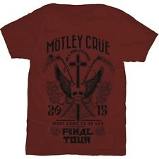 Official T Shirt MOTLEY CRUE- FINAL TOUR All Sizes Red Mens Licensed Merch New
