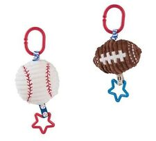 Mud Pie All Boy Baby Boy Sports Baseball & Football Stroller Buddies Toy 2112200