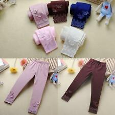 2-7T Kids Girls Tight Pants Lace Butterfly Warm Stretchy Leggings Trousers Pants