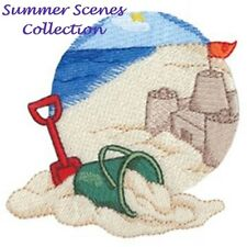 SUMMER SCENES - MACHINE EMBROIDERY DESIGNS ON CD