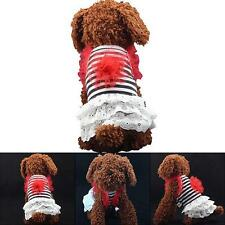 Lovely Dog Pet Cat Summer Dress Clothes Lace Flower Puppy Party Apparels XS-XL